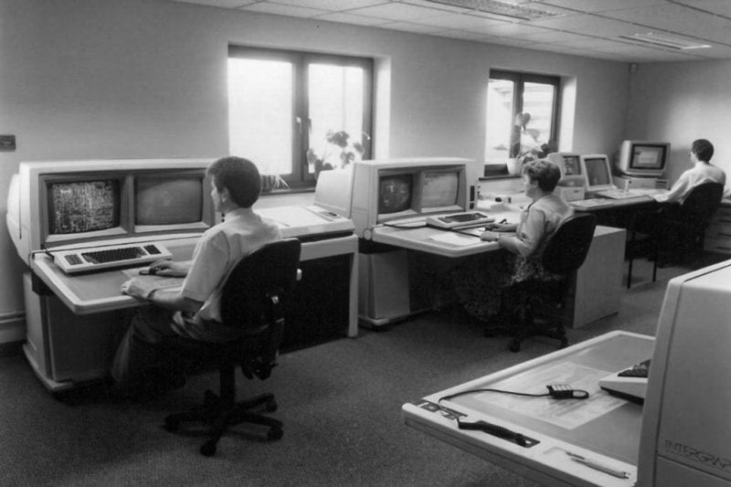 CAD machines in the 90's
